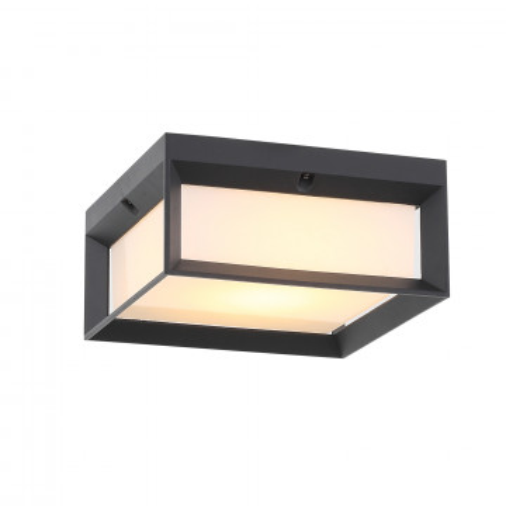 Потолочный светодиодный светильник ST Luce Cubista SL077.402.01, IP54, LED 12W 3000K, черный, черно-белый, металл с пластиком