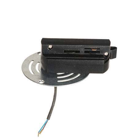 Крепление-адаптер для монтажа светильника на трек Lightstar Asta 592061, черный, металл