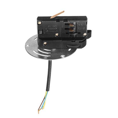 Крепление-адаптер для монтажа светильника на трек Lightstar Asta 594061, черный, металл