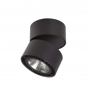 Потолочный светодиодный светильник с регулировкой направления света Lightstar Forte Muro 213817, LED 15W 3000K 1400lm, черный, металл
