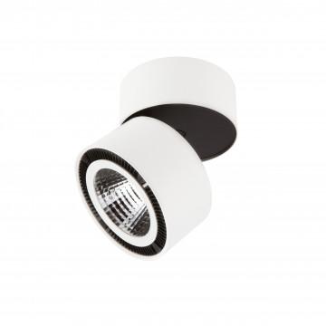 Потолочный светодиодный светильник с регулировкой направления света Lightstar Forte Muro 213816, LED 15W 3000K 1400lm, белый, черно-белый, металл