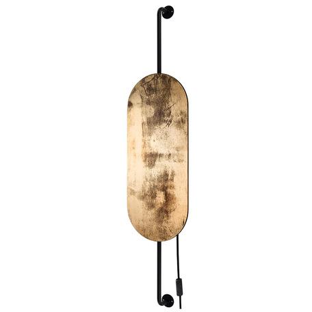 Настенный светильник Nowodvorski Wheel 8427, 2xG9x20W, черный, матовое золото, металл, дерево