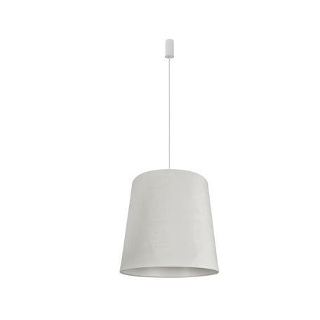 Подвесной светильник Nowodvorski Cone L 8438, 1xE27x60W, белый, металл, текстиль