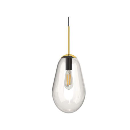 Подвесной светильник Nowodvorski Pear S 8673, 1xE27x40W, черный, прозрачный, металл, стекло