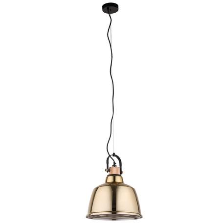 Подвесной светильник с регулировкой направления света Nowodvorski Amalfi L 8381, 1xE27x40W, черный, золото, металл, стекло