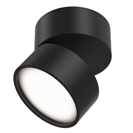 Светодиодный светильник Maytoni Onda C024CL-L12B3K, LED 12W 3000K 700lm CRI80, черный, металл, металл с пластиком - миниатюра 1