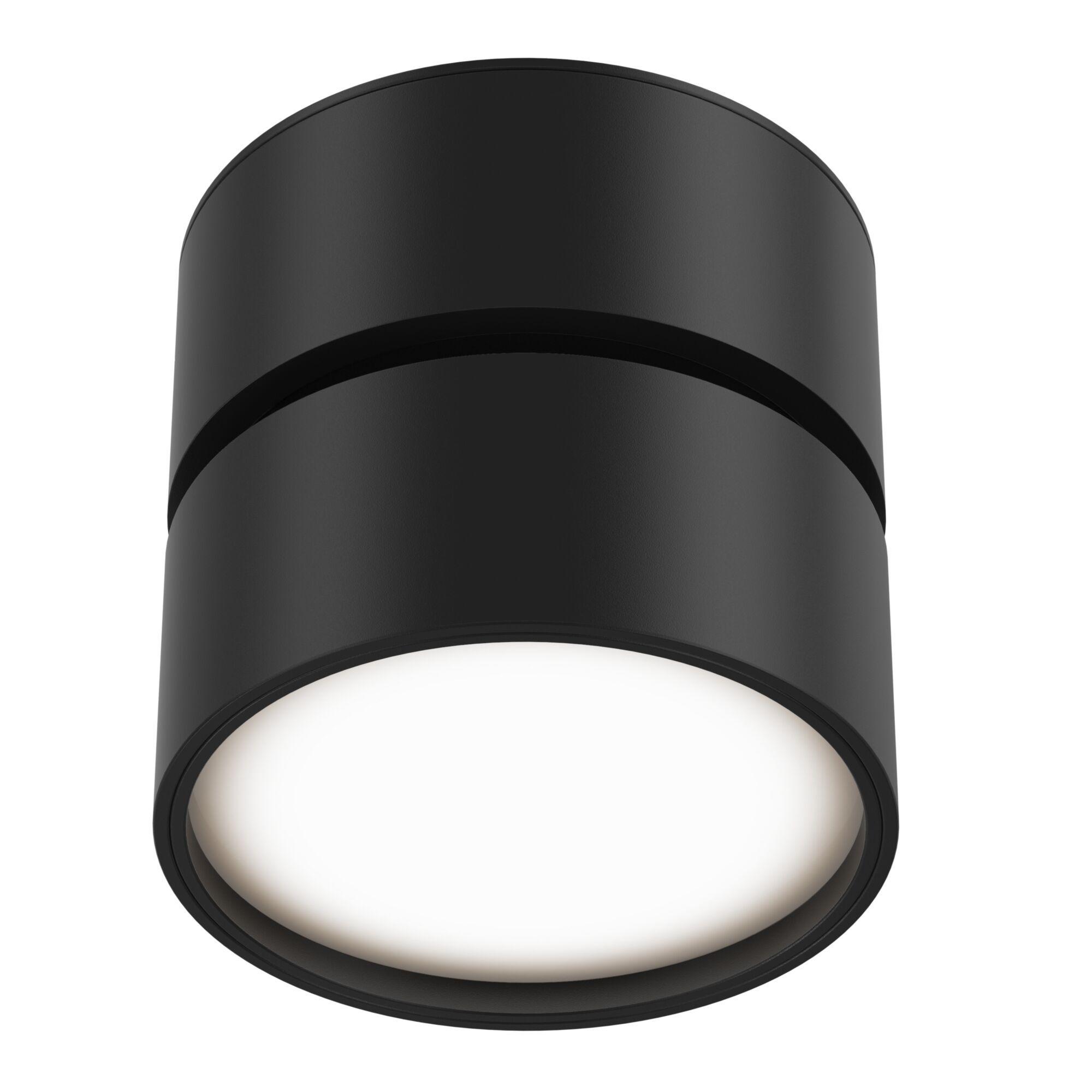 Светодиодный светильник Maytoni Onda C024CL-L12B3K, LED 12W 3000K 700lm CRI80, черный, металл, металл с пластиком - фото 2