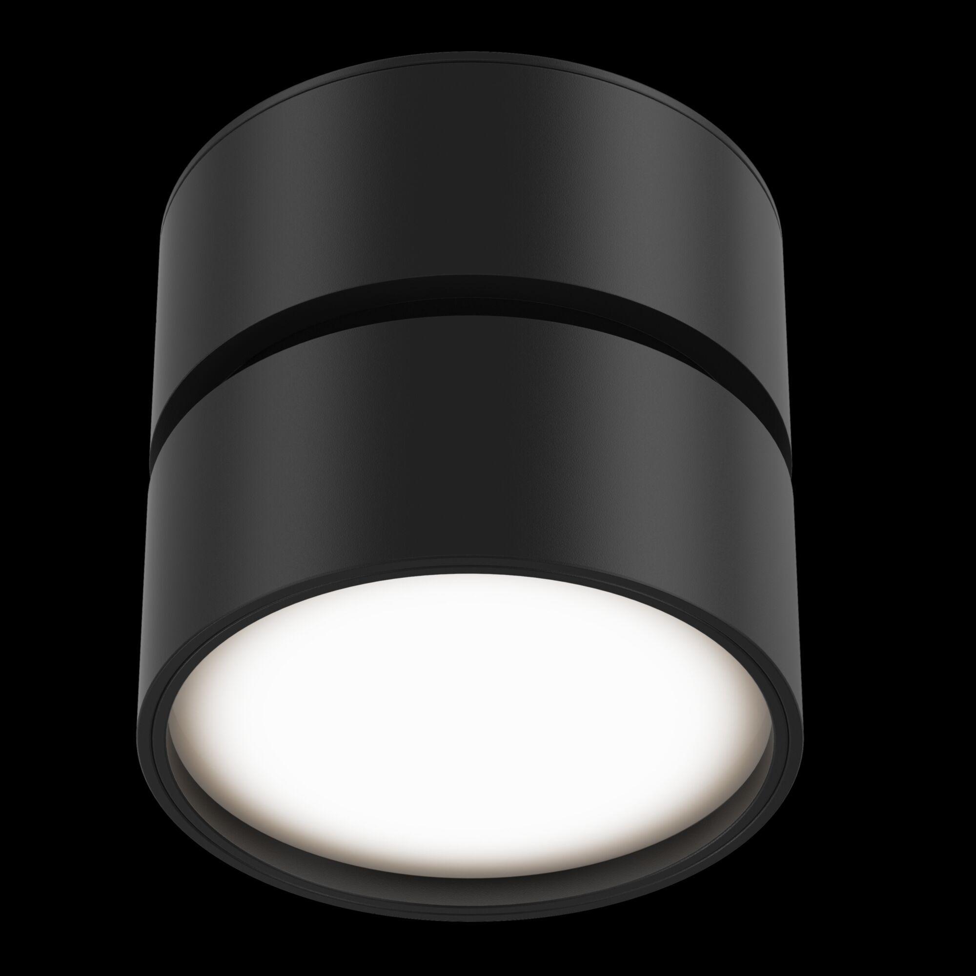Светодиодный светильник Maytoni Onda C024CL-L12B3K, LED 12W 3000K 700lm CRI80, черный, металл, металл с пластиком - фото 3
