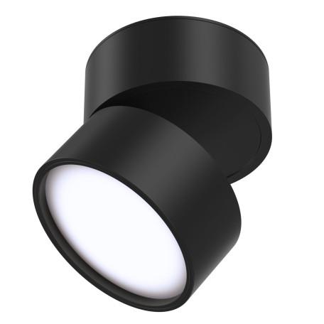 Светодиодный светильник Maytoni Onda C024CL-L12B4K, LED 12W 4000K 800lm CRI80, черный, металл, металл с пластиком
