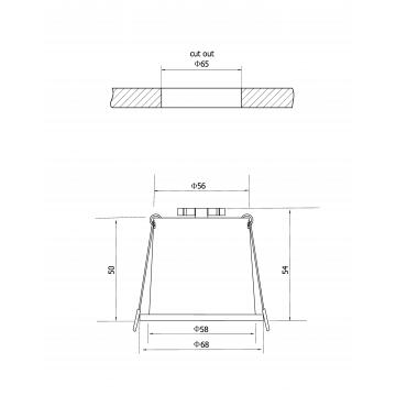 Схема с размерами Maytoni DL049-01B