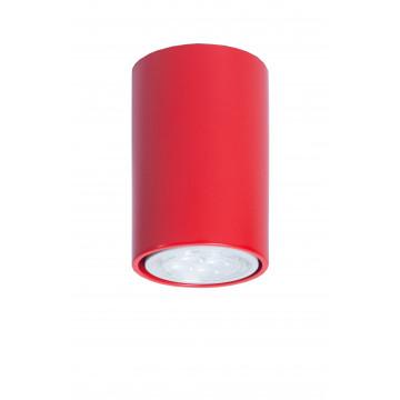 Потолочный светильник Topdecor Tubo6 P1 09, 1xGU10x50W, красный, металл