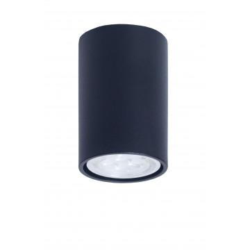 Потолочный светильник Topdecor Tubo6 P1 12, 1xGU10x50W, черный, металл