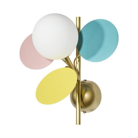 Бра Loft It Matisse 10008/1W mult, 1xG9x5W, разноцветный, белый, металл, стекло