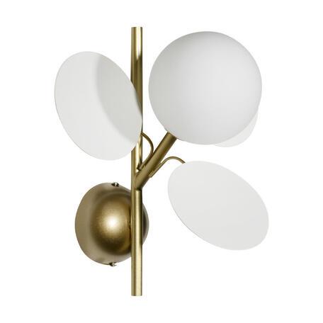 Бра Loft It Matisse 10008/1W white, 1xG9x5W, бронза, белый, металл, стекло