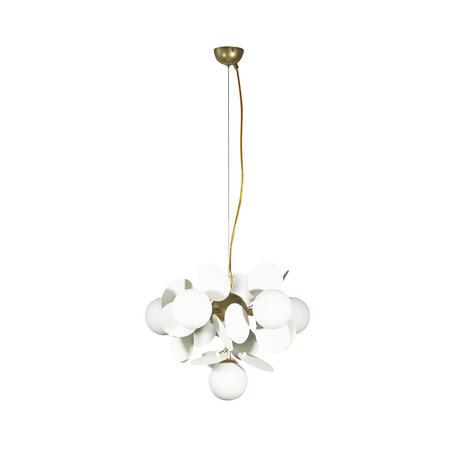 Подвесная люстра Loft It Matisse 10008/6 white, 6xG9x5W, бронза, белый, металл, стекло