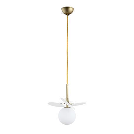 Подвесной светильник Loft It Matisse 10008/1P white, 1xG9x5W, бронза, белый, металл, стекло