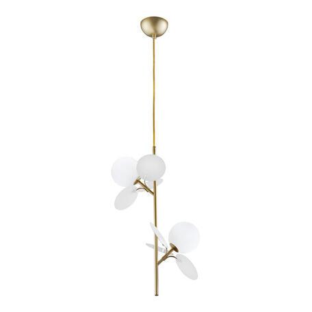 Подвесной светильник Loft It Matisse 10008/2P white, 2xG9x5W, бронза, белый, металл, стекло