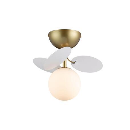 Потолочный светильник Loft It Matisse 10008/1C white, 1xG9x5W, бронза, белый, металл, стекло