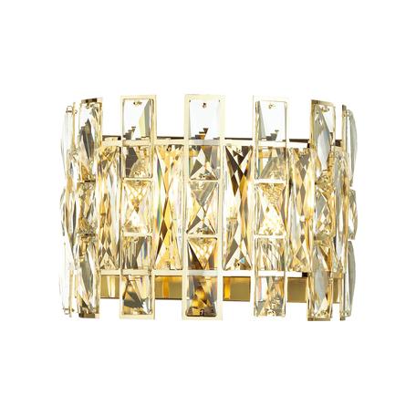 Бра Odeon Light Hall Diora 4121/2W, 2xE14x40W, золото, прозрачный, металл, хрусталь