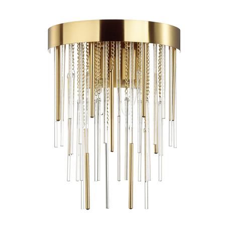 Бра Odeon Light Hall Avista 4784/2W, 2xE14x40W, золото, металл, металл со стеклом