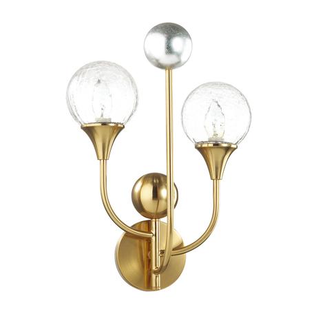 Бра Odeon Light Hall Kelli 4785/2W, 2xE14x40W, золото, прозрачный, металл со стеклом, стекло