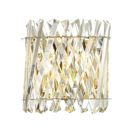 Бра Odeon Light Hall Selva 4795/2W, 2xE14x40W, золото, прозрачный, металл, хрусталь