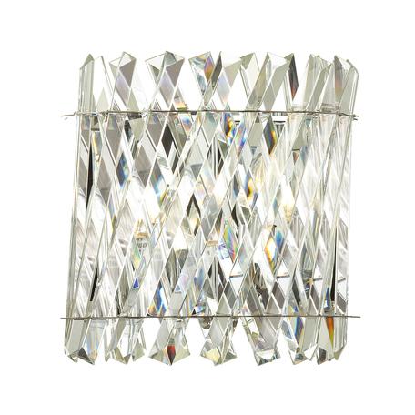 Бра Odeon Light Hall Selva 4796/2W, 2xE14x40W, хром, прозрачный, металл, хрусталь
