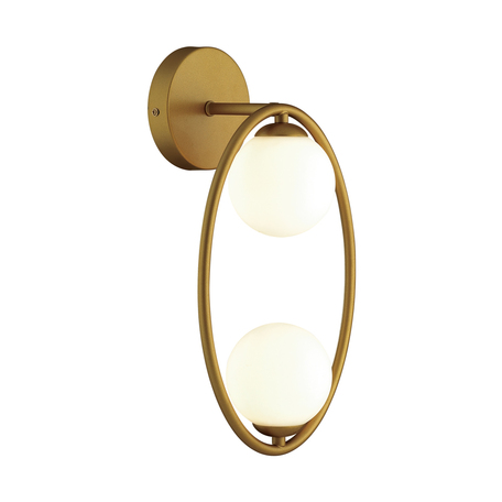 Бра Odeon Light Modern Slota 4808/2W, 2xG9x40W, матовое золото, белый, металл, стекло
