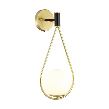 Бра Odeon Light Pendant Flari 4810/1W, 1xE14x40W, матовое золото, матовое золото с белым, белый с золотом, металл, стекло