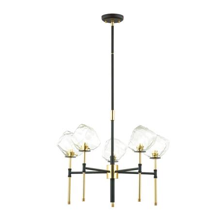 Люстра на составной штанге Odeon Light Loft Stono 4789/5, 5xG9x40W, черный, прозрачный, металл, стекло