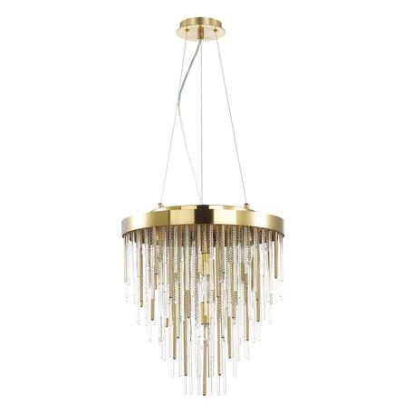 Подвесная люстра Odeon Light Hall Avista 4784/7, 7xE14x40W, золото, металл, металл со стеклом
