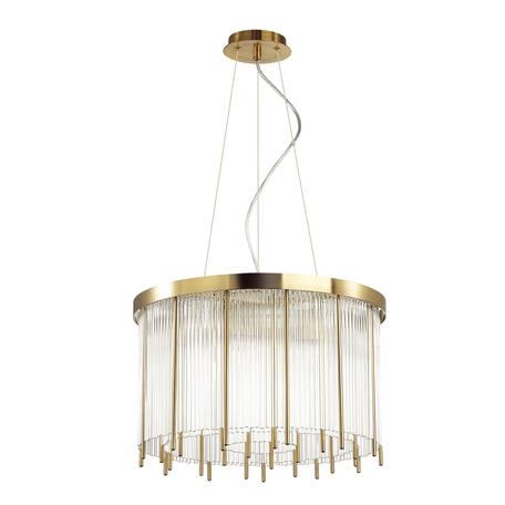 Подвесная люстра Odeon Light Hall York 4788/7, 7xE14x40W, золото, металл, стекло