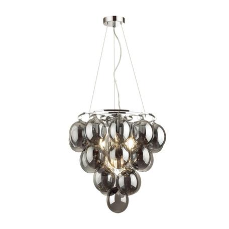 Подвесная люстра Odeon Light Modern Grape 4797/6, 6xE14x40W, хром, дымчатый, металл, стекло