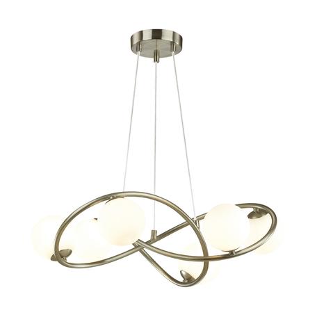 Подвесная люстра Odeon Light Modern Slota 4807/6, 6xG9x40W, никель, белый, металл, стекло