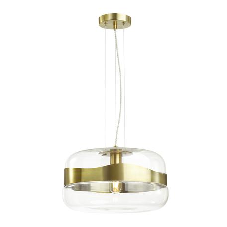 Подвесной светильник Odeon Light Pendant Apile 4813/1A, 1xE27x60W, бронза, металл, стекло