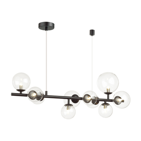 Подвесной светильник Odeon Light Modern Tovi 4818/10, 10xG9x40W, черный, прозрачный, металл, стекло