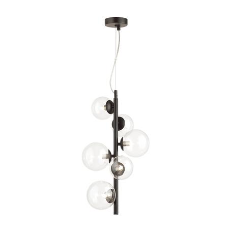 Подвесной светильник Odeon Light Modern Tovi 4818/6, 6xG9x40W, черный, прозрачный, металл, стекло
