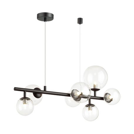 Подвесной светильник Odeon Light Modern Tovi 4818/7, 7xG9x40W, черный, прозрачный, металл, стекло