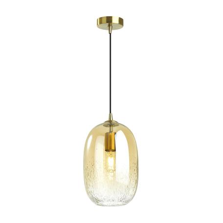 Подвесной светильник Odeon Light Pendant Airly 4819/1, 1xE27x60W, бронза, янтарь, металл, стекло