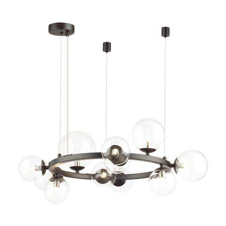Подвесной светильник Odeon Light Modern Tovi 4818/11, 11xG9x40W, черный, прозрачный, металл, стекло