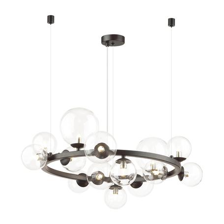 Подвесной светильник Odeon Light Modern Tovi 4818/14, 14xG9x40W, черный, прозрачный, металл, стекло
