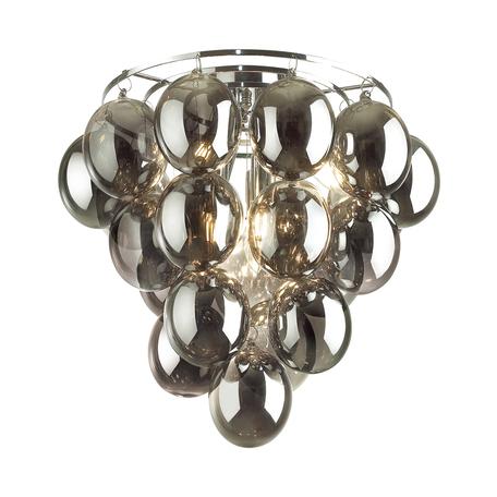 Потолочная люстра Odeon Light Modern Grape 4797/6C, 6xE14x40W, хром, дымчатый, металл, стекло