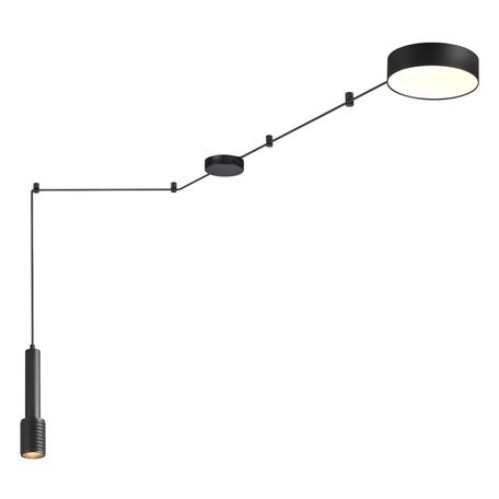 Потолочно-подвесной светильник Odeon Light Fortu 4253/23CL, 1xGU10x10W + LED 23W 3000K 1840lm, черный, металл