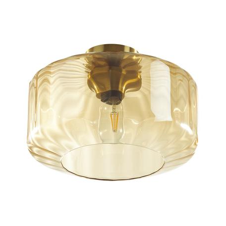 Потолочный светильник Odeon Light Pendant Binga 4747/1C, 1xE27x60W, бронза, янтарь, металл, стекло