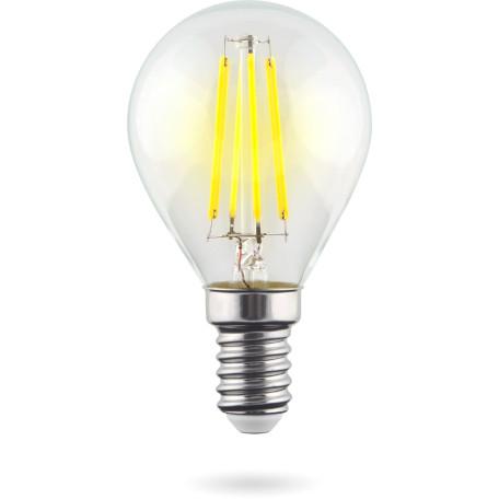 Филаментная светодиодная лампа Voltega Crystal 7099 шар малый E14 9W, 4000K 220V, гарантия 3 года