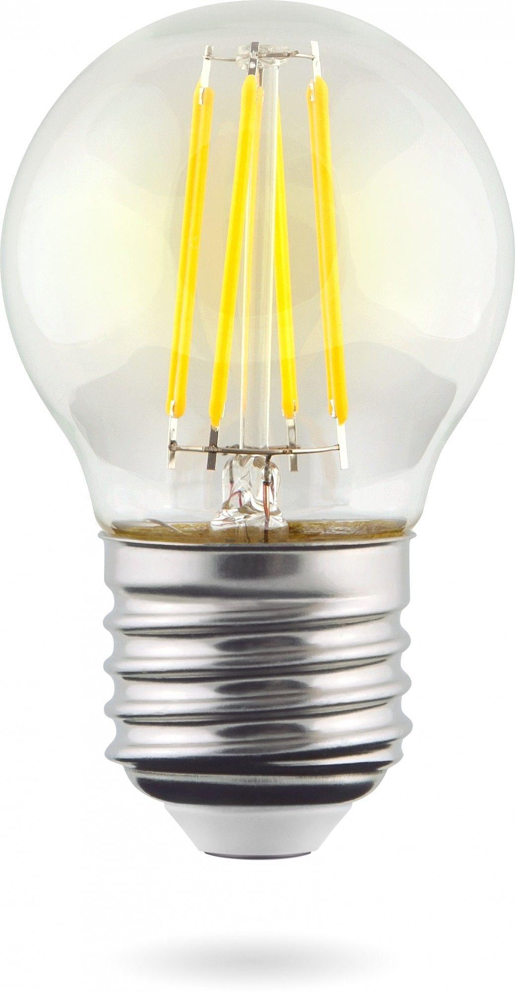 Светодиодная лампа Voltega Crystal 7107 G45 E27 9W, 4000K (дневной) 220V, гарантия 3 года - фото 1
