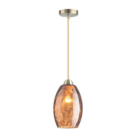 Подвесной светильник Lumion Suspentioni Sapphire 4485/1, 1xE27x60W, бронза, янтарь, металл, стекло