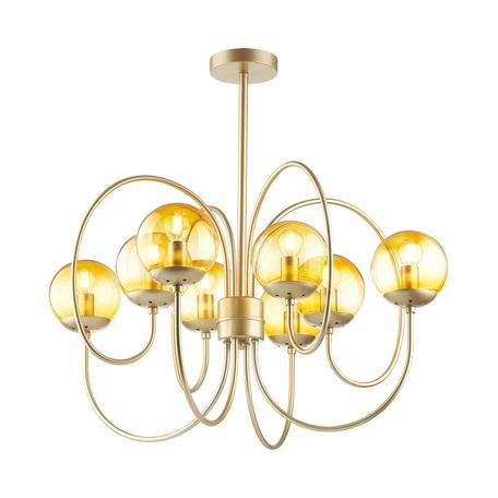 Потолочная люстра Lumion Moderni Scarlett 4482/8C, 8xE14x60W, матовое золото, желтый, металл, стекло