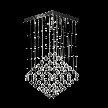 Люстра-каскад Dio D'Arte Tesoro H 1.4.40.103 N, 6xG9x40W, никель, прозрачный, металл, хрусталь
