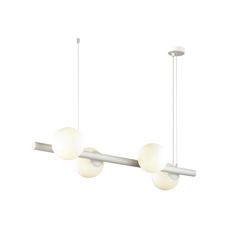 Подвесной светильник Odeon Light Alta 4097/4, 4xE14x10W, белый, металл, стекло